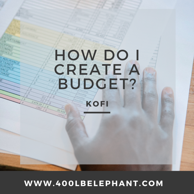 How do I Create a Budget?